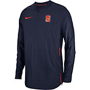 Nike Men's Syracuse Orange Blue Lockdown Football Quarter-Zip Jacket