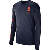 Nike Men's Syracuse Orange Blue Dri-FIT Elevated Basketball Long Sleeve Shirt
