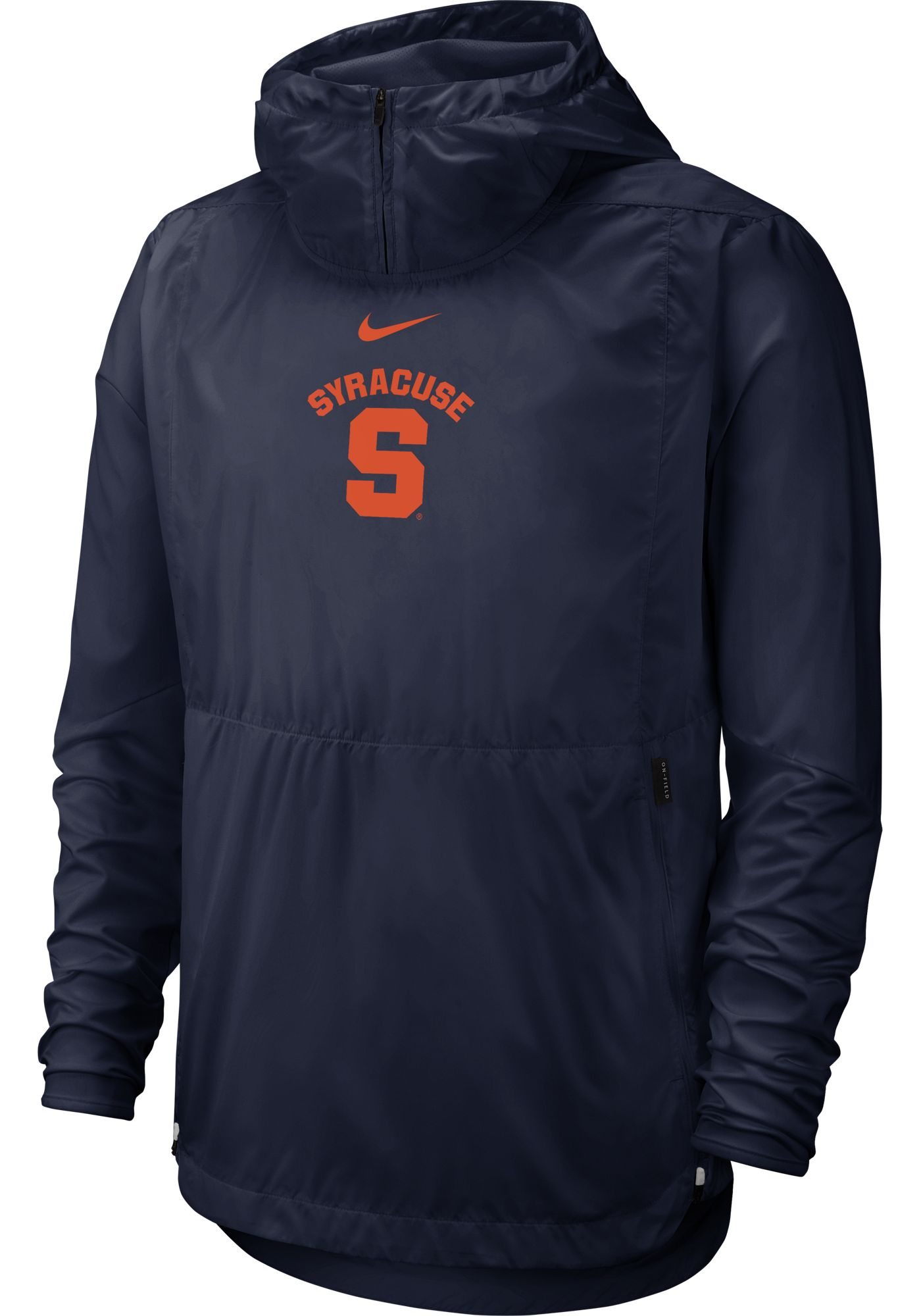 Nike Men's Syracuse Orange Blue Repel Football Sideline Player Pullover Hoodie
