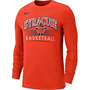 Nike Men's Syracuse Orange Dri-FIT Retro Long Sleeve Basketball Orange T-Shirt