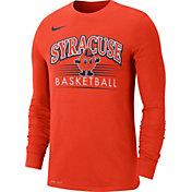 52abfd21 Product Image · Nike Men's Syracuse Orange Dri-FIT Retro Long Sleeve Basketball  Orange T-Shirt