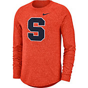 Nike Men's Syracuse Orange Orange Marled Raglan Long Sleeve T-Shirt