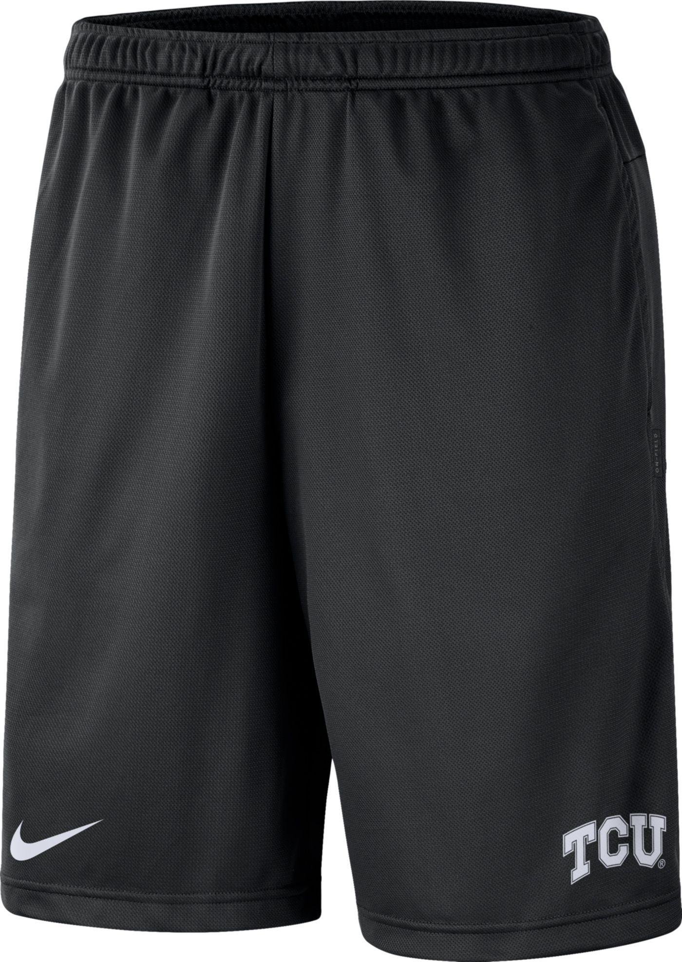 Nike Men's TCU Horned Frogs Dri-FIT Coach Black Shorts