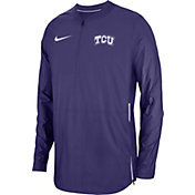 Nike Men's TCU Horned Frogs Purple Lockdown Football Quarter-Zip Jacket