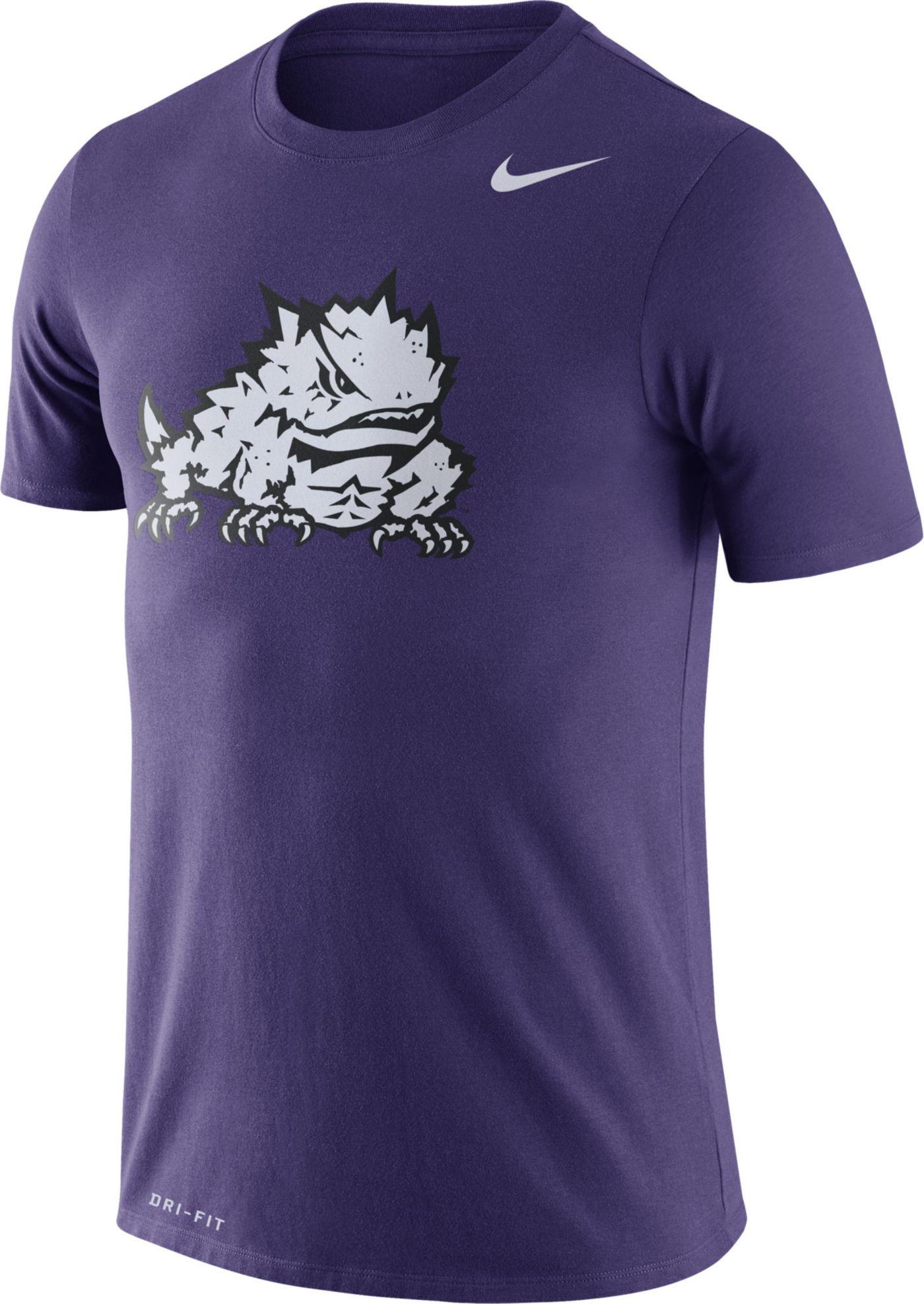 Nike Men's TCU Horned Frogs Purple Logo Dry Legend T-Shirt