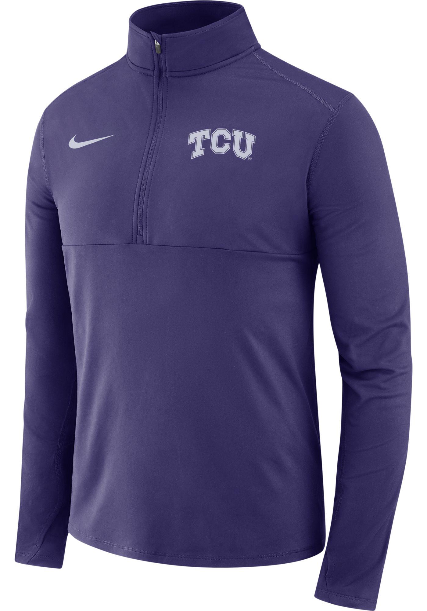 Nike Men's TCU Horned Frogs Purple Long Sleeve Core Half-Zip Shirt