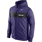 Nike Men's TCU Horned Frogs Purple Therma-FIT Full-Zip Sideline Hoodie