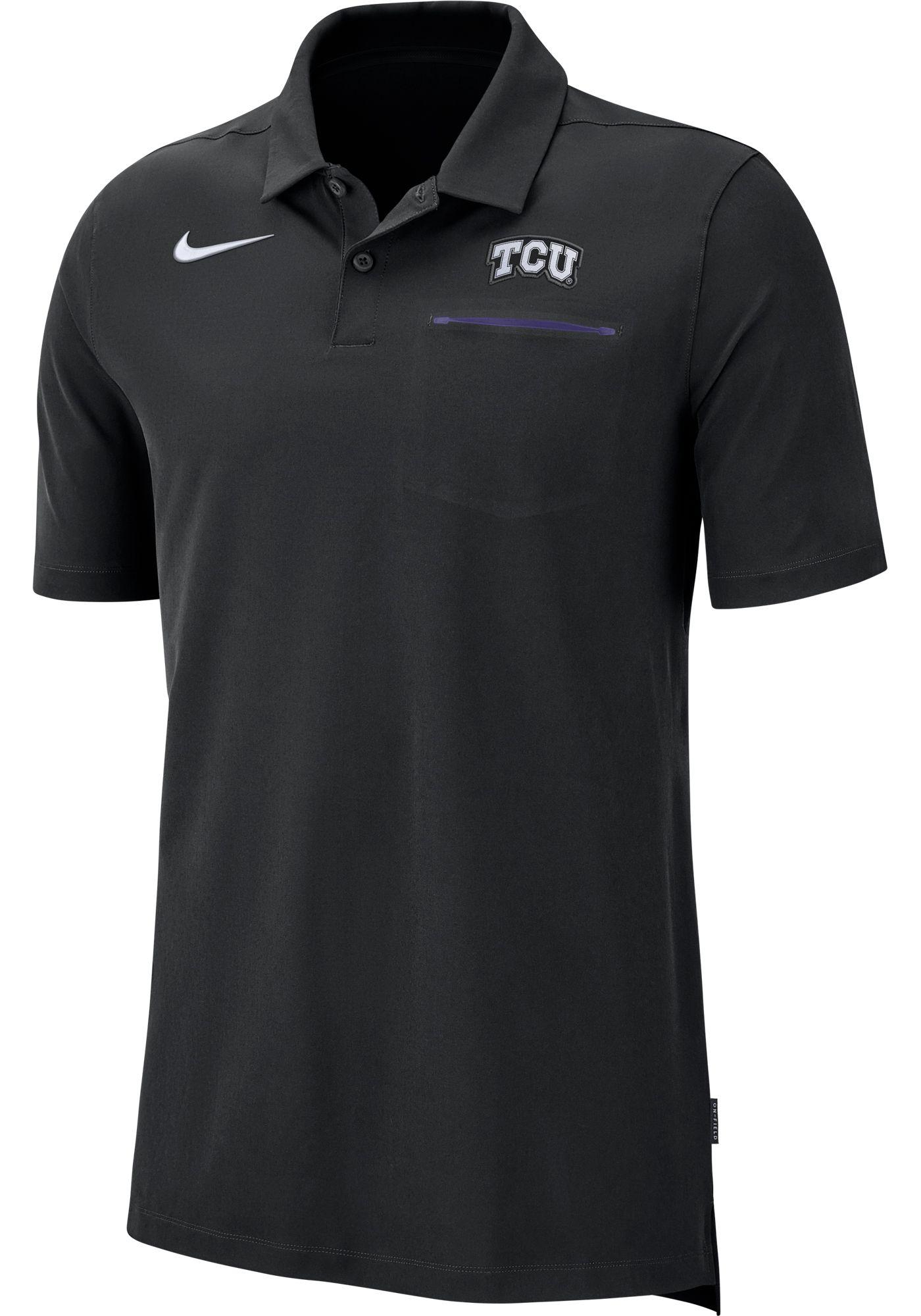 Nike Men's TCU Horned Frogs Purple Dri-FIT Elite Football Sideline Polo