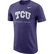 Nike Men's TCU Horned Frogs Purple Marled Raglan T-Shirt
