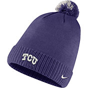 Nike Men's TCU Horned Frogs Purple Football Sideline Pom Beanie