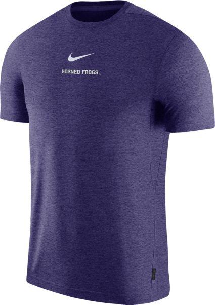 buy popular 1f43d 92464 Nike Men s TCU Horned Frogs Purple Dri-FIT Coach UV Football T-Shirt