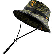 Nike Men's Tennessee Volunteers Tiger Camo Dri-FIT Sideline Bucket Black Hat
