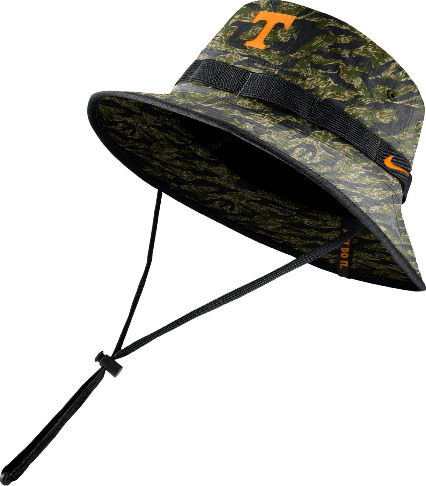 Nike Men's Tennessee Volunteers Tiger Camo Dri-FIT Sideline Bucket Black Hat