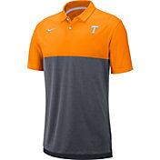 Nike Men's Tennessee Volunteers Tennessee Orange/Grey Dri-FIT Breathe Football Sideline Polo