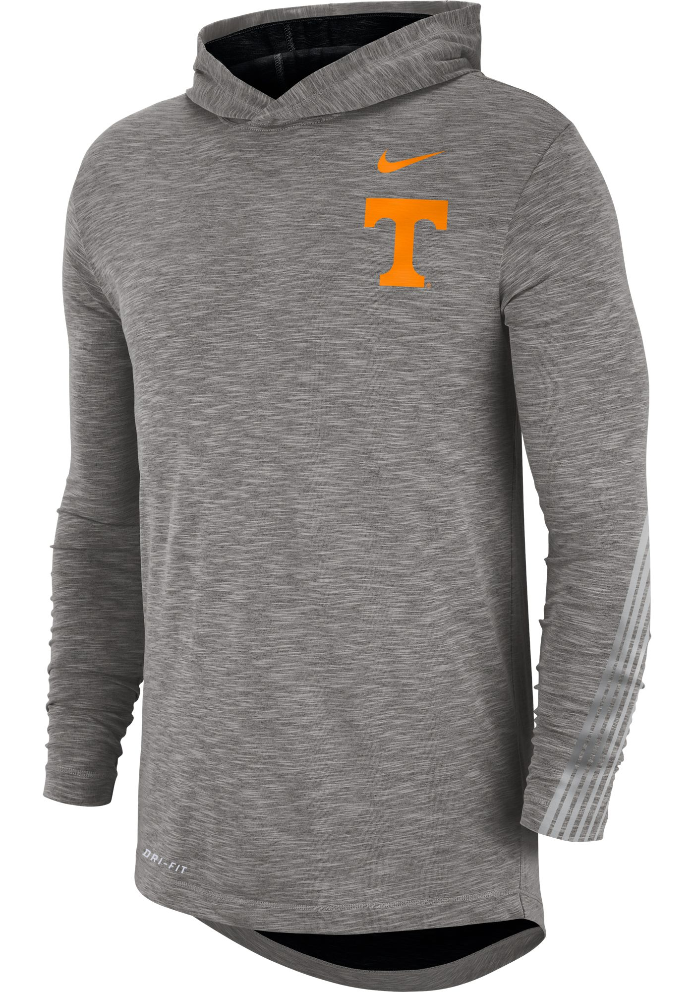 Nike Men's Tennessee Volunteers Grey Cotton Long Sleeve Hoodie T-Shirt