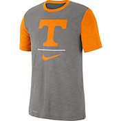 Nike Men's Tennessee Volunteers Grey Dri-FIT Baseball Slub T-Shirt