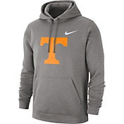 Nike Men's Tennessee Volunteers Grey Club Fleece Pullover Hoodie