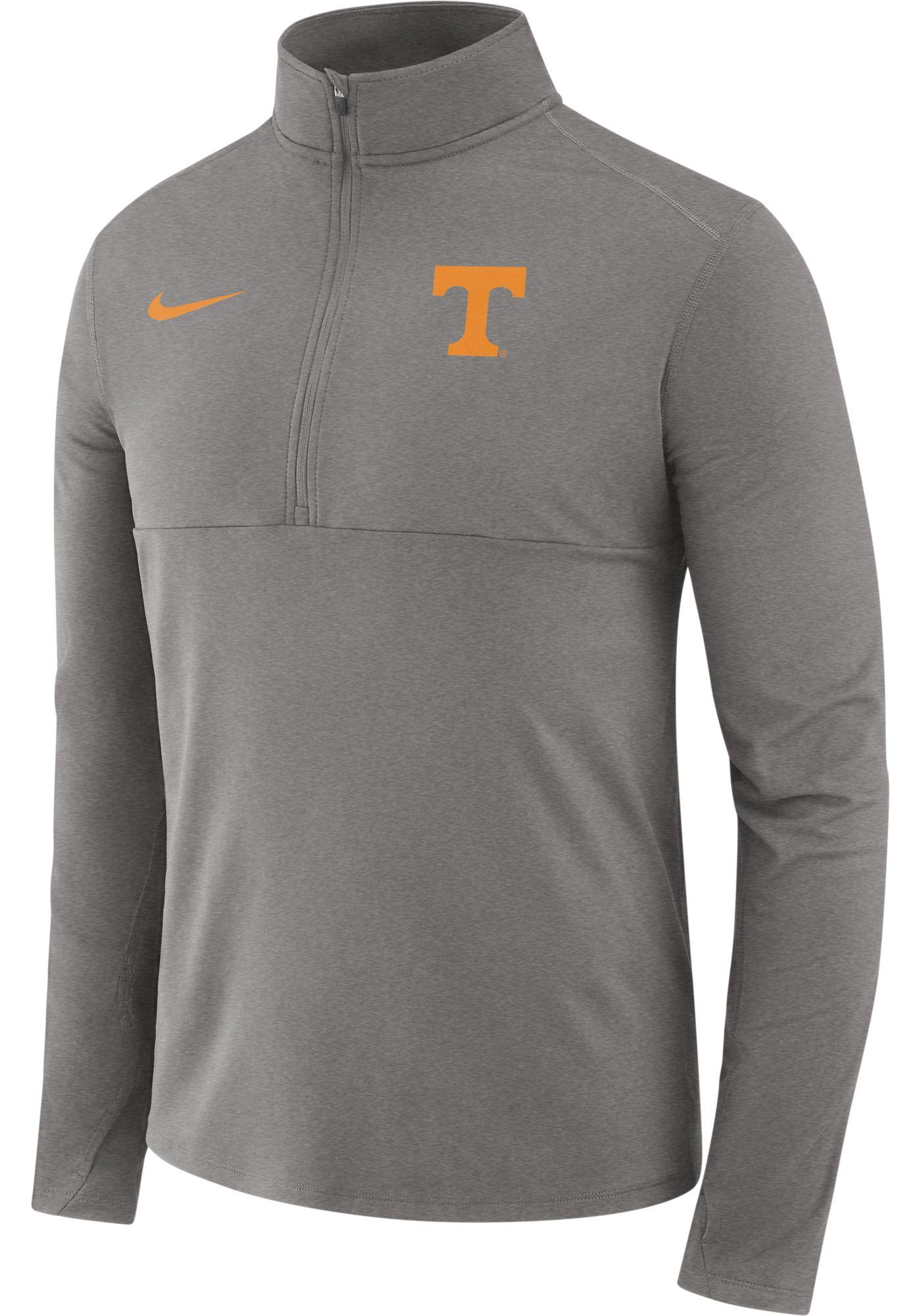 Nike Men's Tennessee Volunteers Grey Long Sleeve Core Half-Zip Shirt
