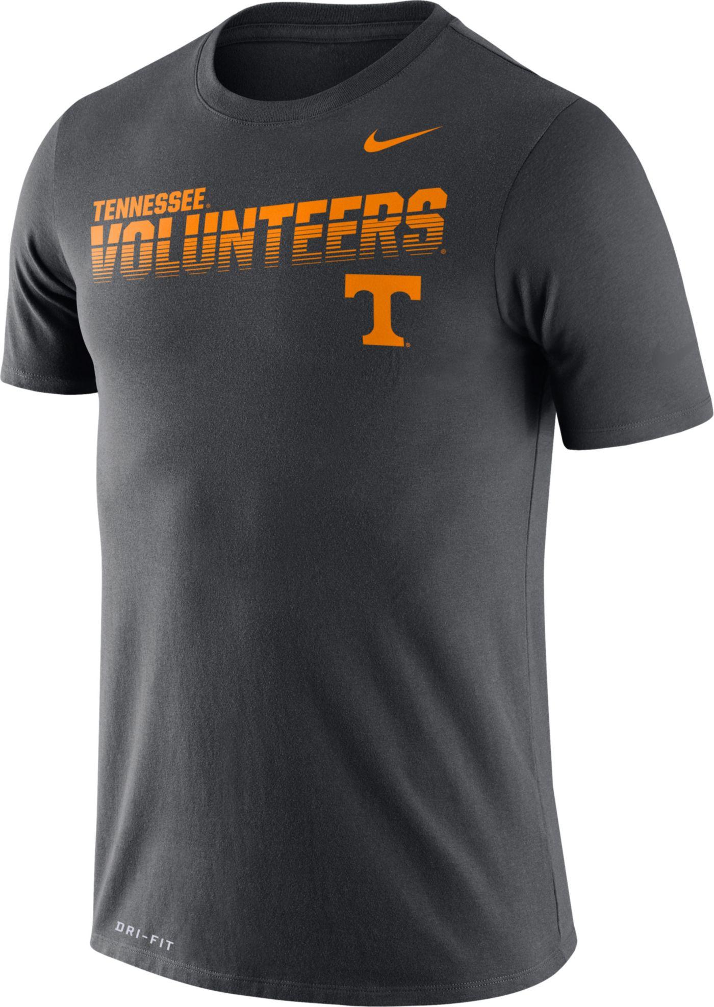 Nike Men's Tennessee Volunteers Grey Legend Football Sideline T-Shirt