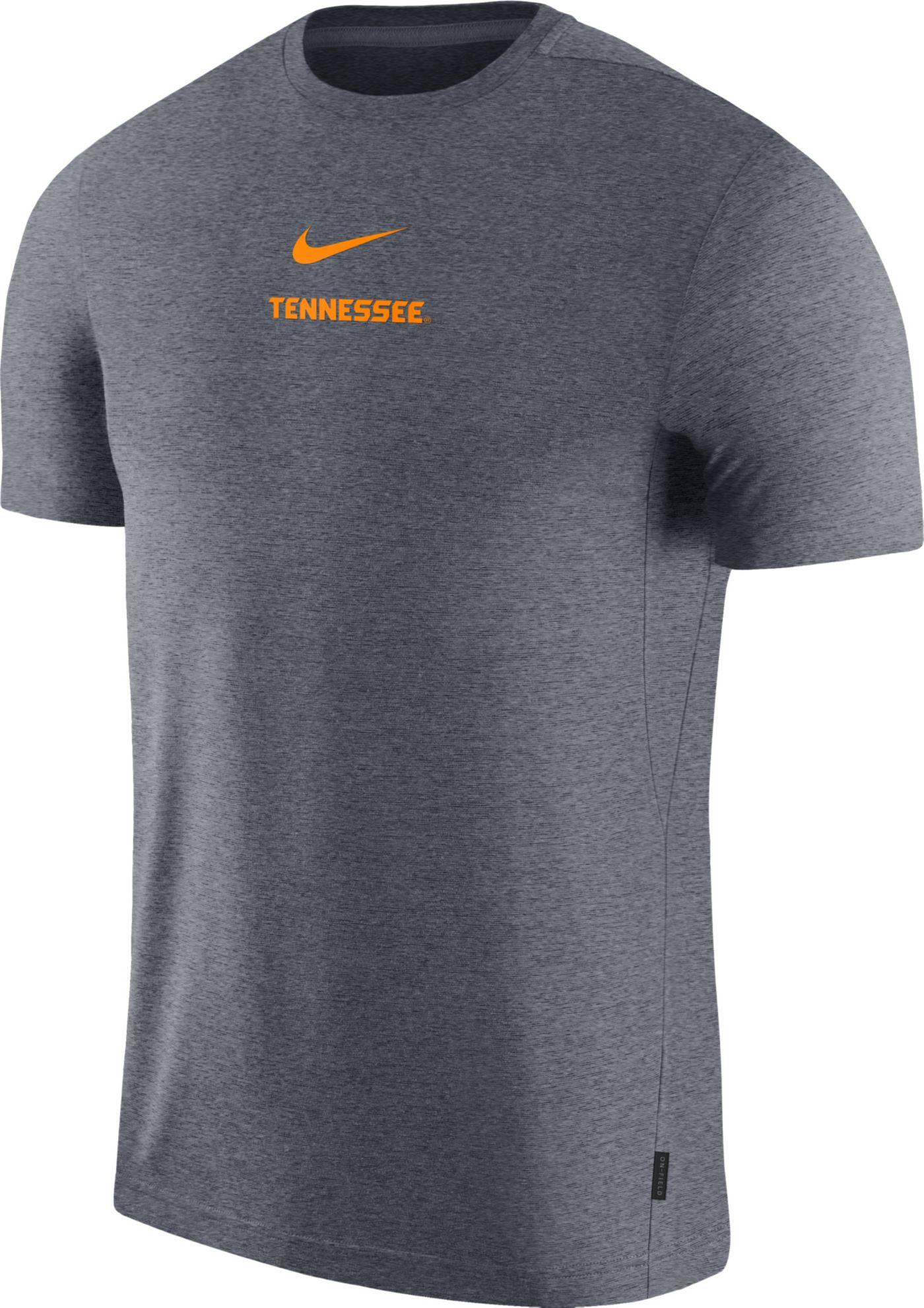 Nike Men's Tennessee Volunteers Grey Dri-FIT Coach UV Football T-Shirt