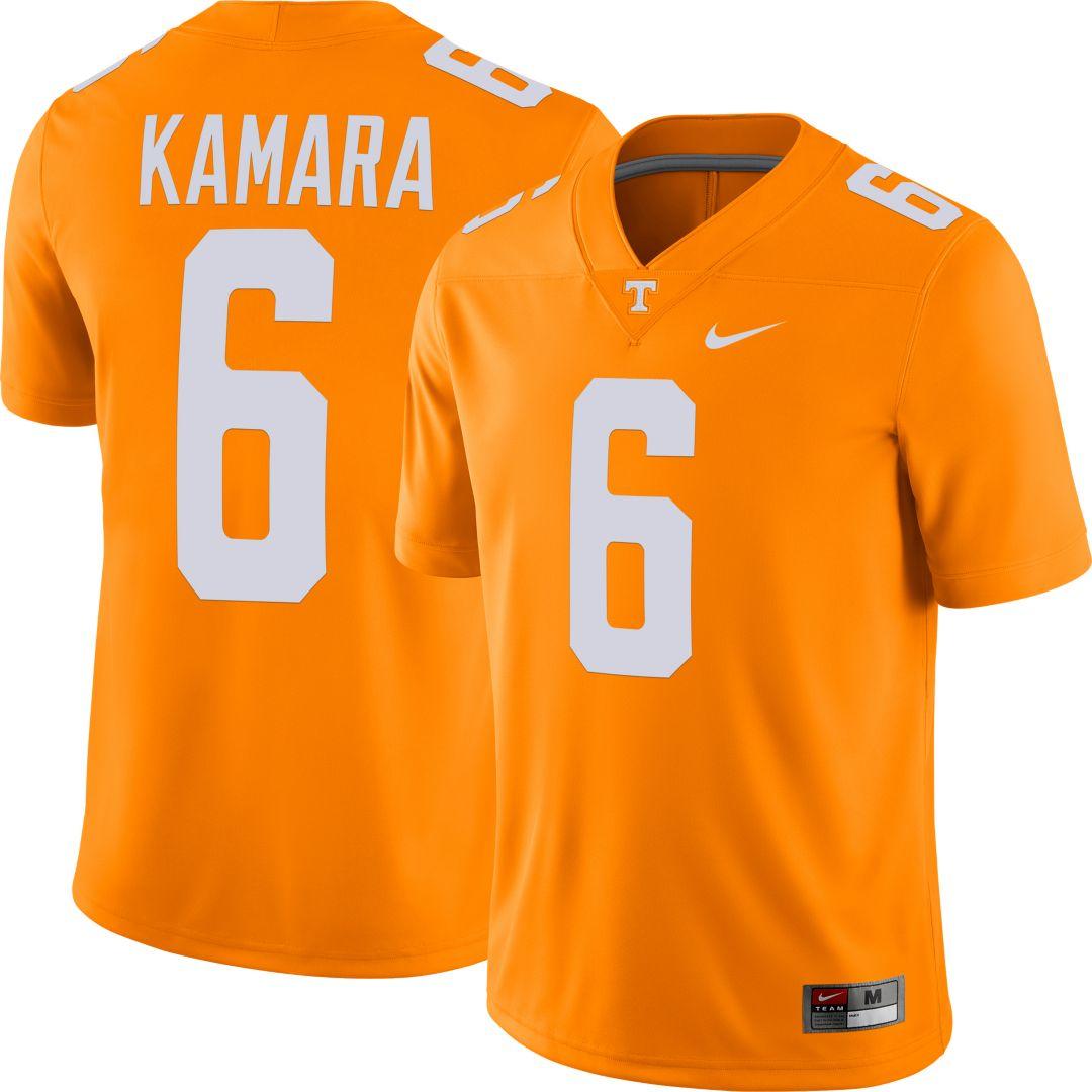 newest ba263 1c4a6 Nike Men's Alvin Kamara Tennessee Volunteers #6 Tennessee Orange Dri-FIT  Game Football Jersey
