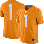 Nike Men's Tennessee Volunteers #1 Tennessee Orange Game Football Jersey