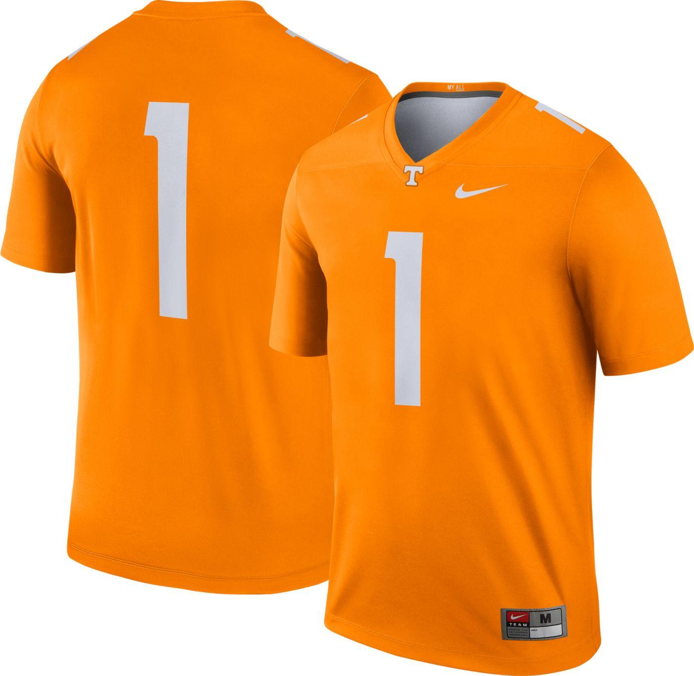 Nike Men's Tennessee Volunteers #1 Tennessee Orange Dri-FIT Legend Football Jersey