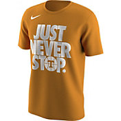 Nike Men's Tennessee Volunteers Tennessee Orange 'Just Never Stop' Selection T-Shirt
