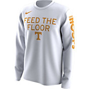 Nike Men's Tennessee Volunteers 'Feed the Floor' Bench Legend Long Sleeve White T-Shirt