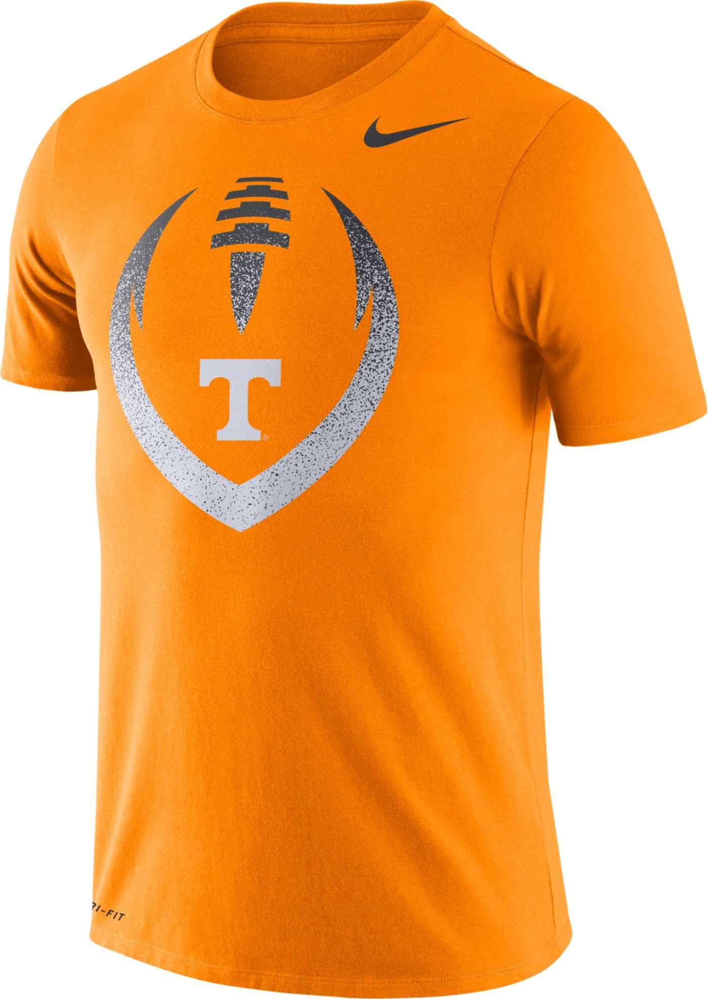 Nike Men's Tennessee Volunteers Tennessee Orange Dri-FIT Cotton Football Icon T-Shirt