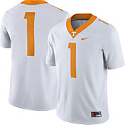 Nike Men's Tennessee Volunteers #1 Game Football White Jersey