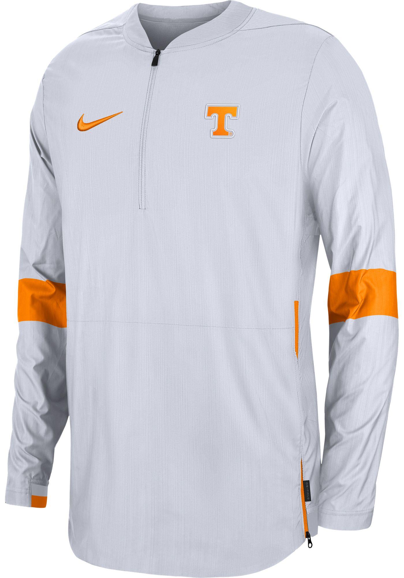 Nike Men's Tennessee Volunteers Lockdown Half-Zip Football White Jacket