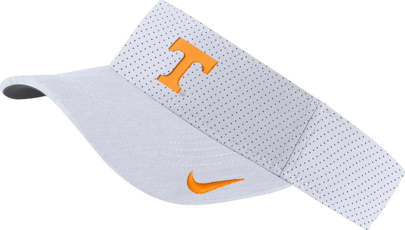 Nike Men's Tennessee Volunteers AeroBill Football Sideline White Visor