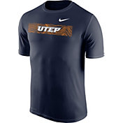 Nike Men's UTEP Miners Navy Football Sideline Legend T-Shirt