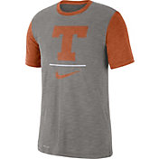 Nike Men's Texas Longhorns Grey Dri-FIT Baseball Slub T-Shirt