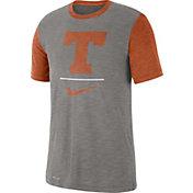 Nike Men's Texas Longhorns Grey Dri-FIT Baseball Slub T-Shirt