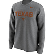 Nike Men's Texas Longhorns Grey Lockup Long Sleeve Shirt