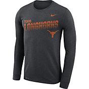 Nike Men's Texas Longhorns Grey Legend Football Sideline Long Sleeve T-Shirt