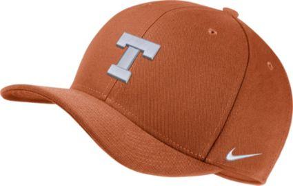 dba5185164777 Nike Men s Texas Longhorns Burnt Orange Classic99 Swoosh Flex Hat.  noImageFound