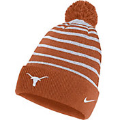 Nike Men's Texas Longhorns Burnt Orange Football Sideline Cuffed Pom Beanie