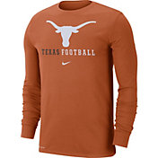 Nike Men's Texas Longhorns Burnt Orange Football Icon Wordmark Long Sleeve T-Shirt