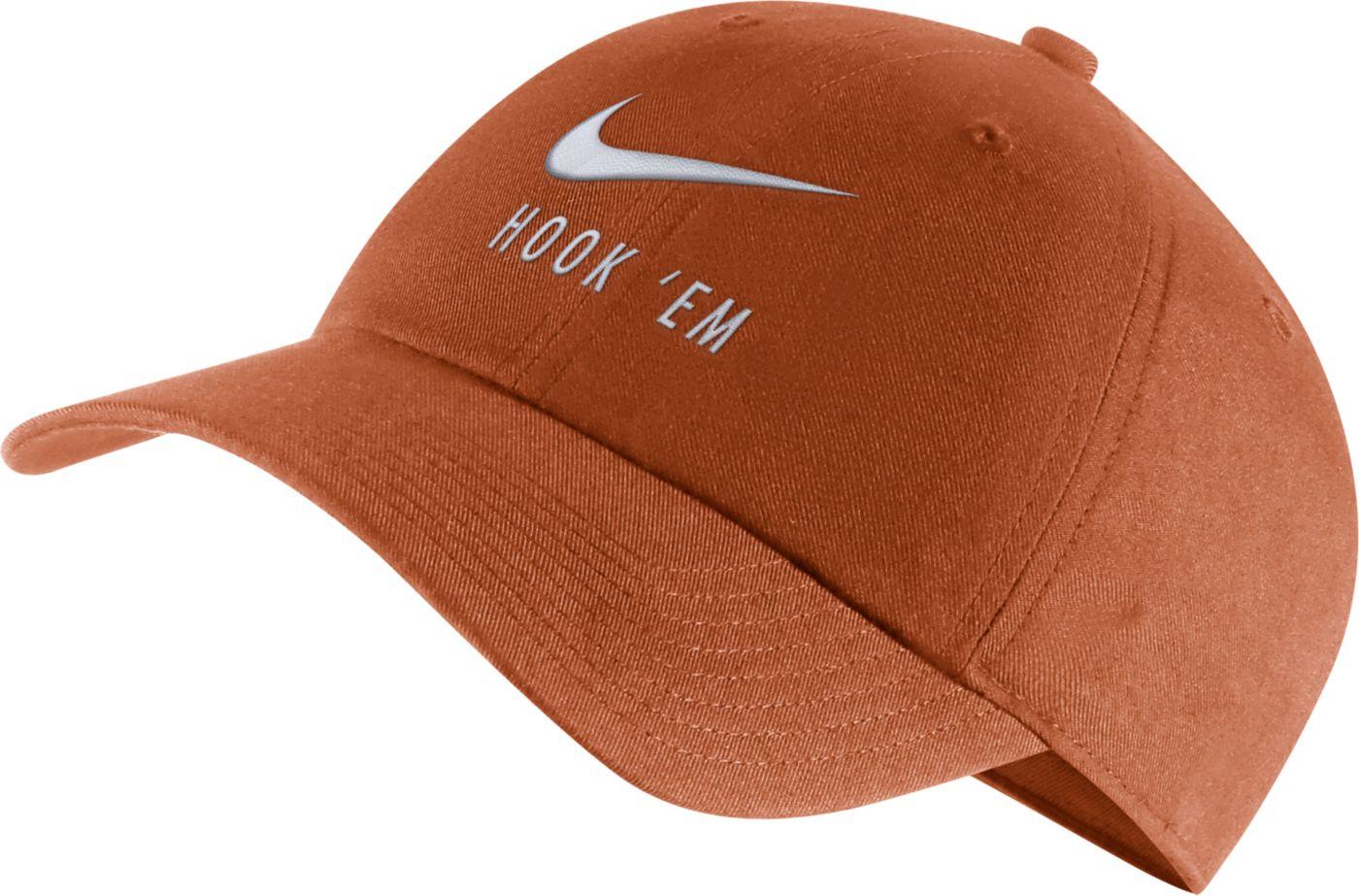 Nike Men's Texas Longhorns Burnt Orange Heritage86 Adjustable Hat