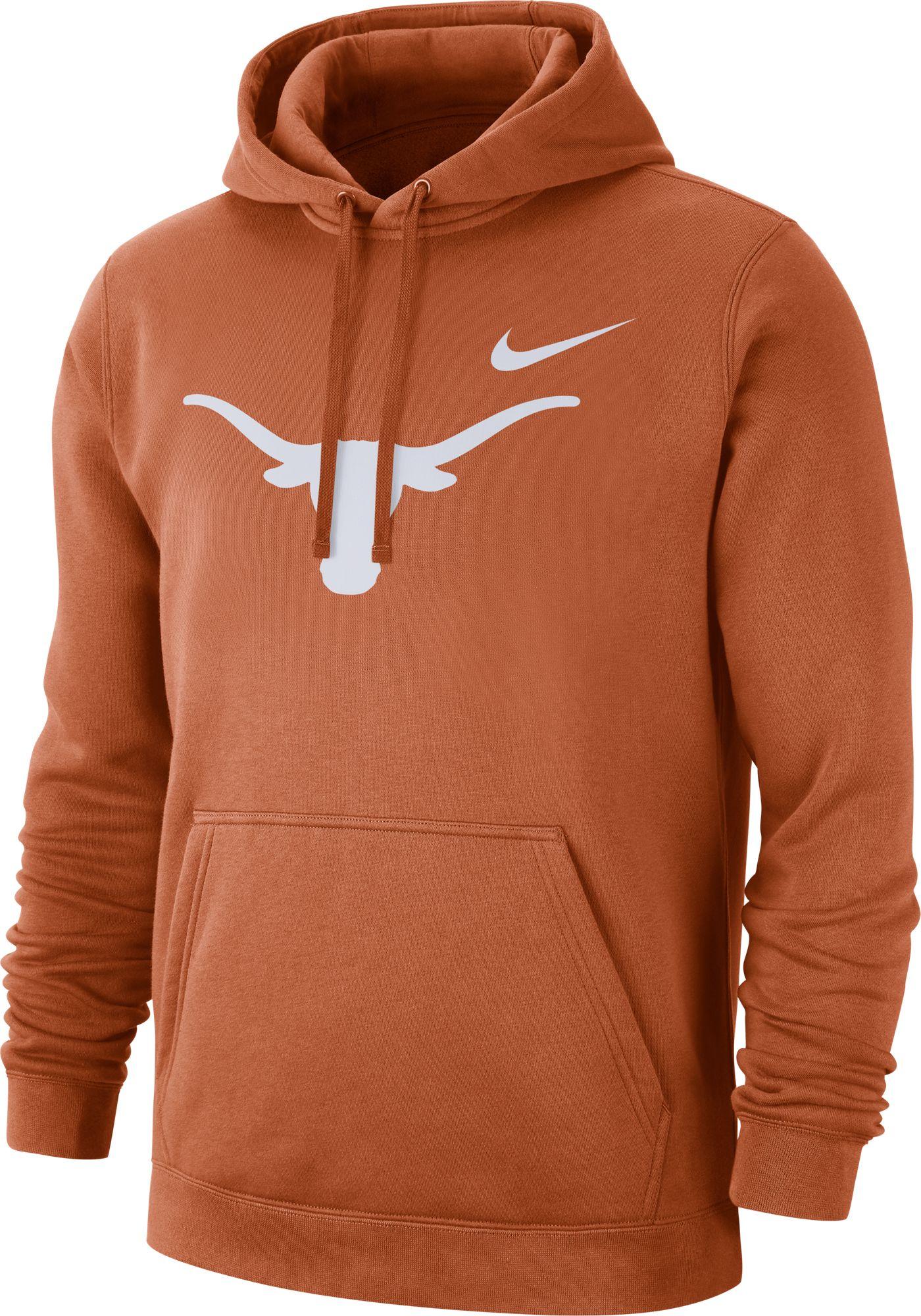 Nike Men's Texas Longhorns Burnt Orange Club Fleece Pullover Hoodie