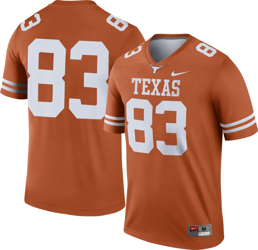 promo code 5e86f 06c61 Nike Men's Texas Longhorns #83 Burnt Orange Dri-FIT Legend Football Jersey