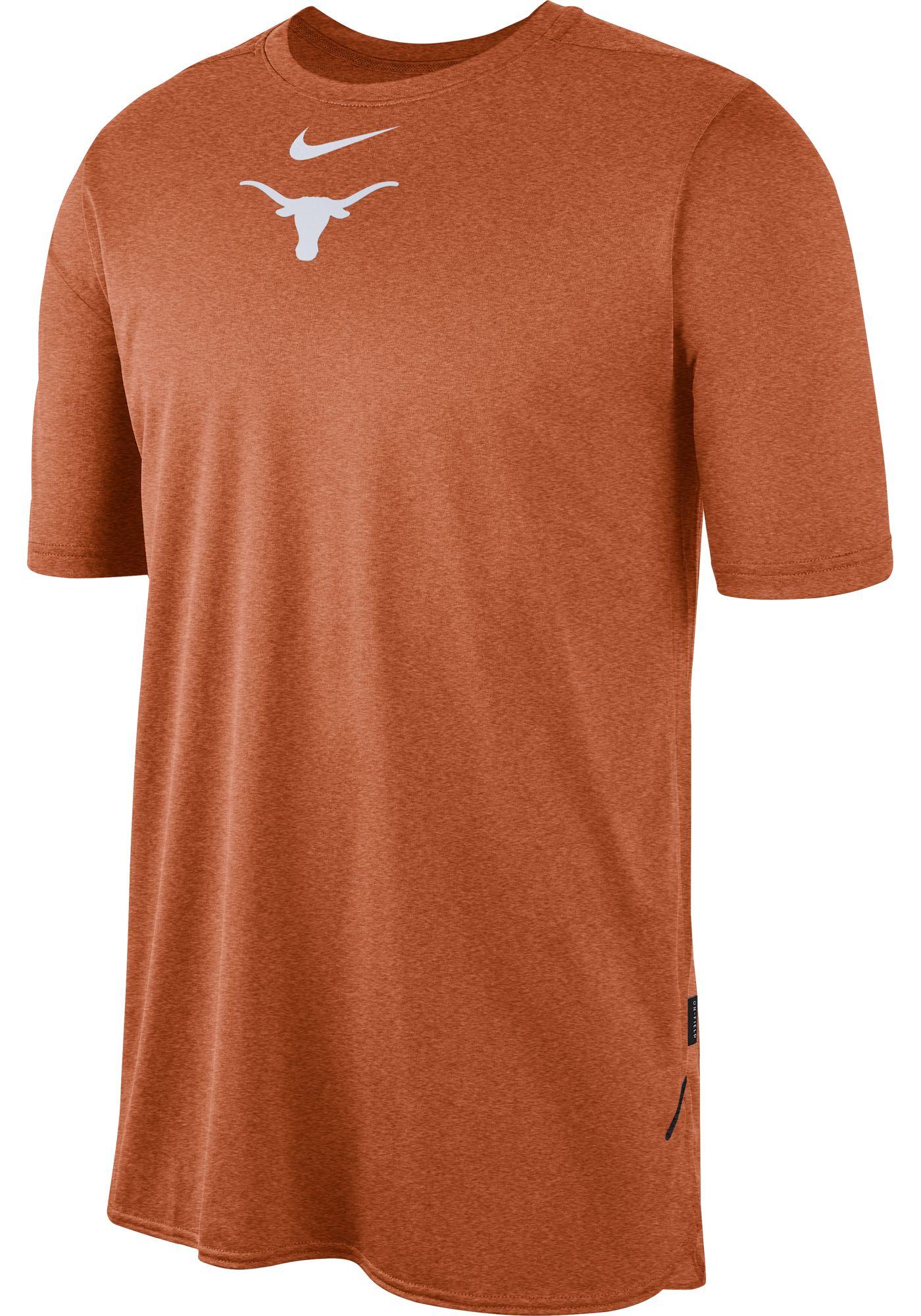 Nike Men's Texas Longhorns Burnt Orange Player Dri-FIT TechKnit T-Shirt
