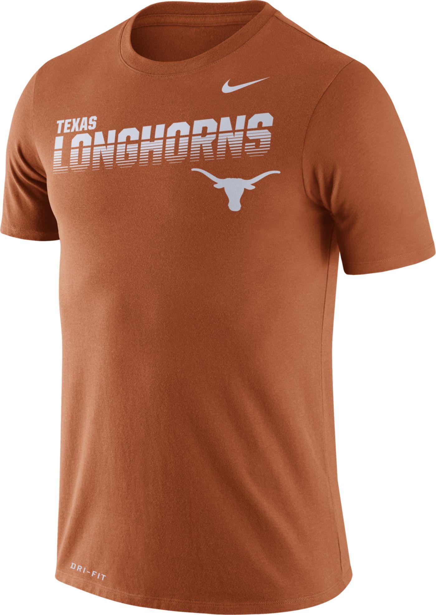 Nike Men's Texas Longhorns Burnt Orange Legend Football Sideline T-Shirt