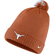 Nike Men's Texas Longhorns Burnt Orange Football Sideline Pom Beanie