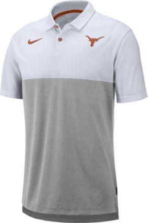fde8568aeb610 Nike Men  39 s Texas Longhorns White Grey Dri-FIT Breathe Football