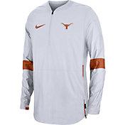Nike Men's Texas Longhorns Lockdown Half-Zip Football White Jacket