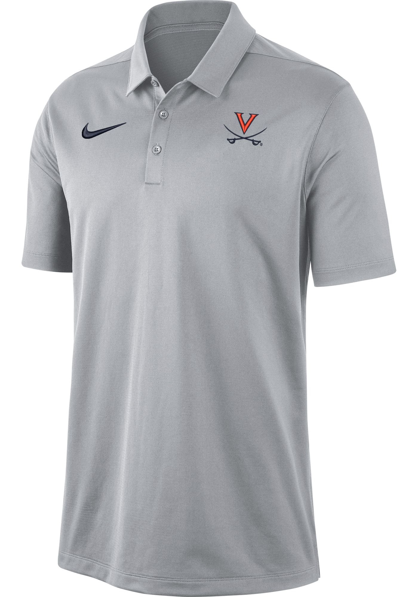 Nike Men's Virginia Cavaliers Grey Dri-FIT Franchise Polo